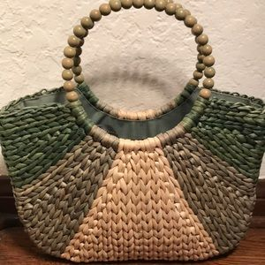 Talbots straw purse/bag